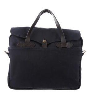 Filson leather trimmed messenger bag
